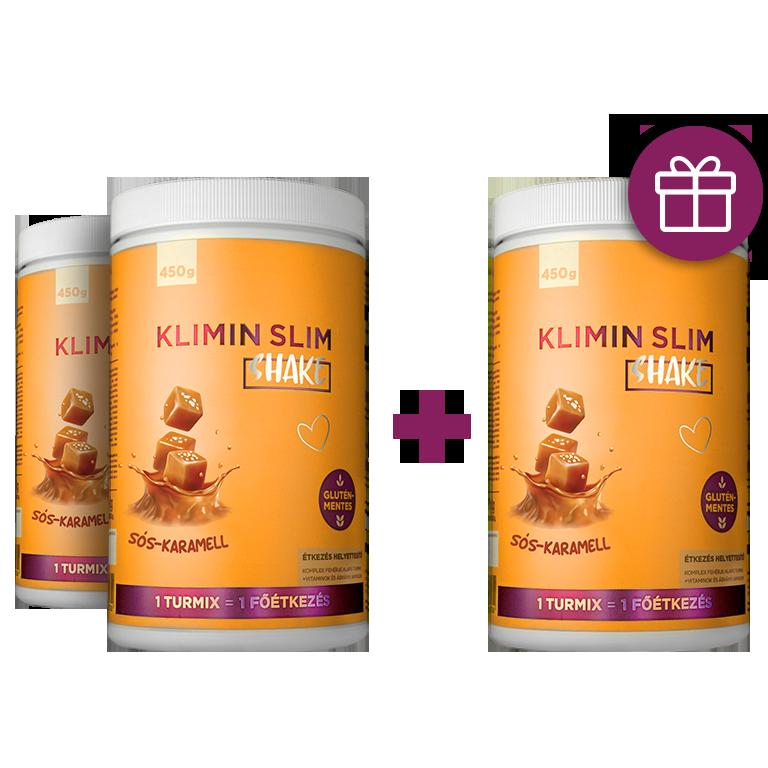 Klimin Slim Shake 2+1 ajándék akció -sós karamell - Pharmax